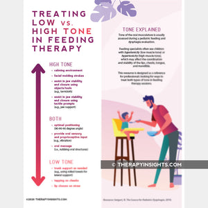Treating Low vs High Tone in Feeding Therapy