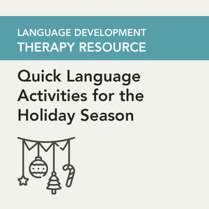 Load image into Gallery viewer, Quick Language Activities for the Holiday Season