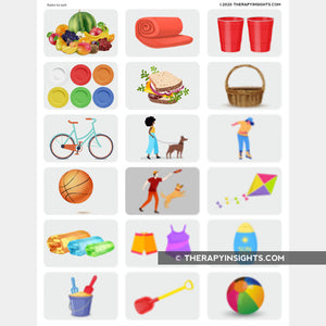 Object Association Activity (Summer Theme)