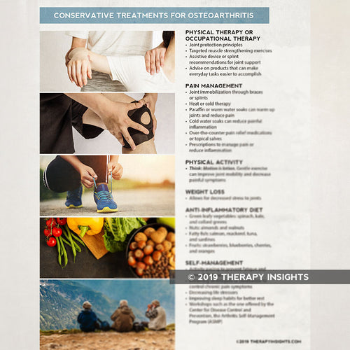 Conservative treatment for osteoarthritis - Occupational therapy - physical therapy - medical occupational therpay - health literacy - Therapy Insights - Therapy Fix