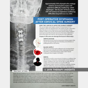 Handout: Post-Operative Dysphagia After Cervical Spine Surgery