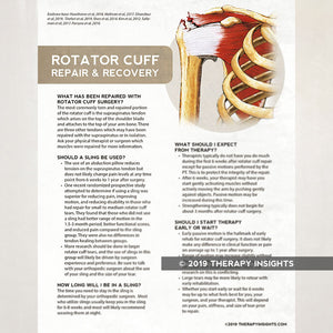 Rotator cuff repair and recovery. Health literacy handout for physical therapy patients. Therapy Fix. Therapy Insights.