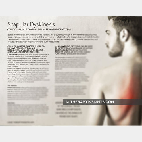 Scapular Dyskinesis: Conscious Muscle Control and Mass Movement Patterns