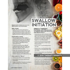 Swallow Initiation - dysphagia therapy - dysphagia handouts - health literacy handouts - speech therapy materials for adults - Therapy Fix - Therapy Insights
