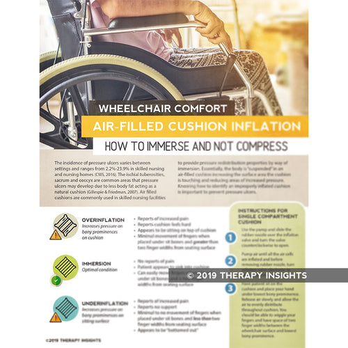 Wheelchair comfort - air-filled cushion inflation - How to immerse and not compress - occupational therapy - OT - rehabilitation therapy - wheelchair cushion inflation - Therapy Insights - Therapy Fix