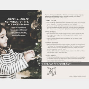 Quick Language Activities for the Holiday Season