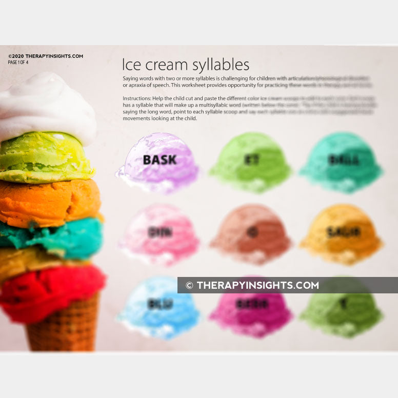Load image into Gallery viewer, Ice Cream Syllables