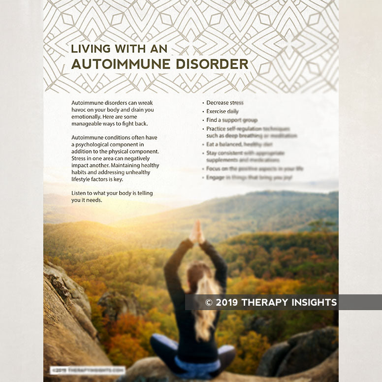 Living with an autoimmune disoder - rehabilitation therapy - health literacy - handouts for patients - Therapy Insights - Therapy Fix