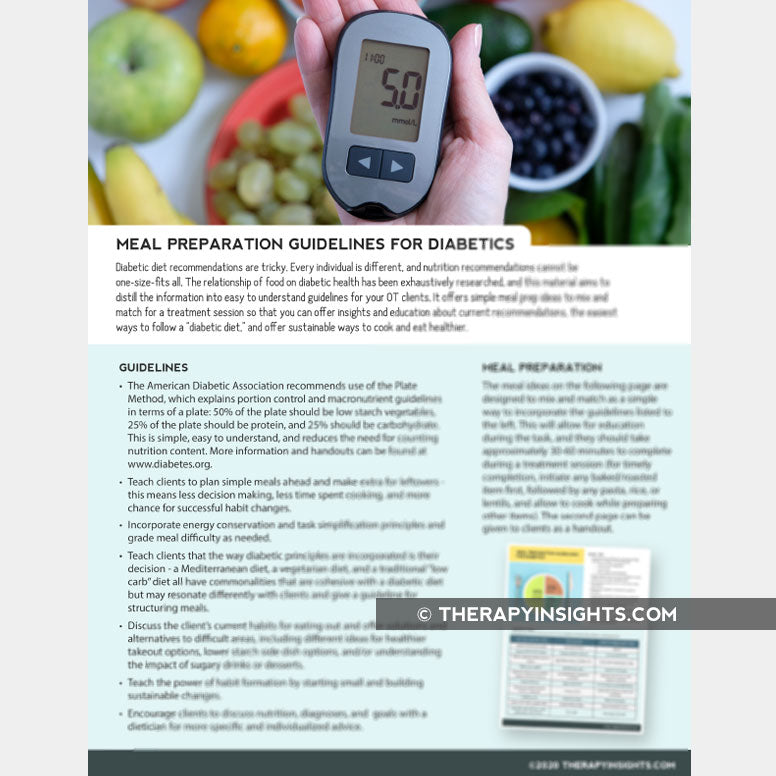 Meal Preparation Guidelines for Diabetics