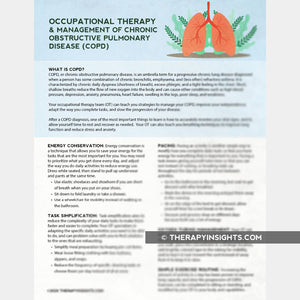 Handout: How Can OT Help You Manage COPD?
