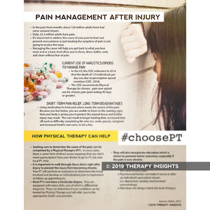 Pain management after injury - physical therapy and pain management - materials and resources for physical therapy - Therapy Insights - Therapy Fix