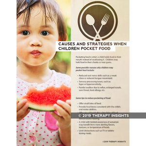Causes and strategies when children pocket food - pediatric pocketing - feeding therapy - pediatric dysphagia - speech therapy materials for kids - pediatric speech therapy - pediatric feeding therapy - Therapy Insights - Therapy Fix