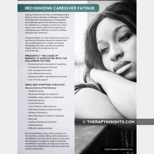 Recognizing Caregiver Fatigue