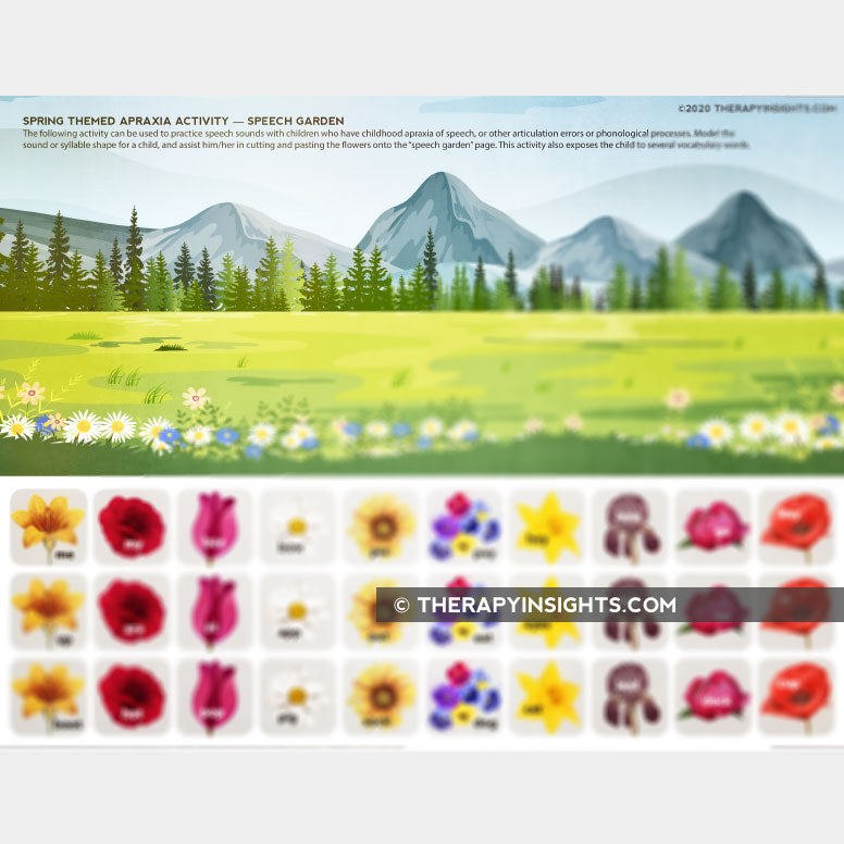 Load image into Gallery viewer, Spring Themed Apraxia Activity - Speech Garden