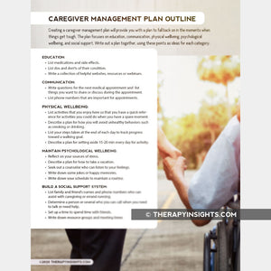 Caregiver Management Plan Outline
