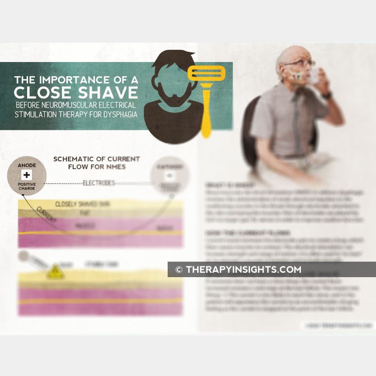 Handout: The Importance of a Close Shave for NMES for Dysphagia