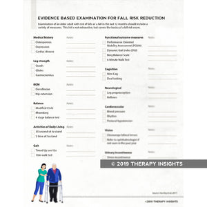 Evidence-based fall risk assessment - Therapy Insights - Therapy Fix