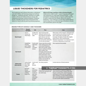 Liquid Thickeners for Pediatrics