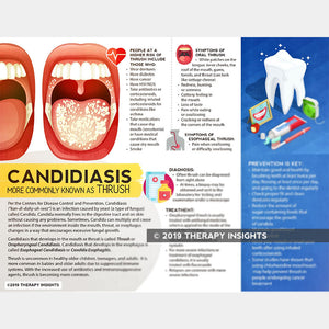 Candidiasis - Oral thrush - handout for adults in speech therapy - medical rehabilitation therapy - oral care - dysphagia therapy - Therapy Insights - Therapy Fix