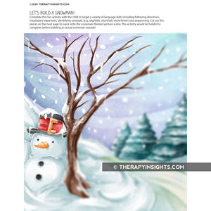 Load image into Gallery viewer, Language Acitivity: Build a Snowman