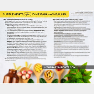 Supplements for Joint Pain and Healing: Summary of Evidence for Physical Therapists