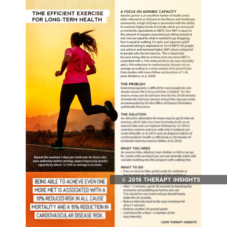 Time efficient exercise for long-term health - increasing VO2max - Therapy Insights - Therapy Fix