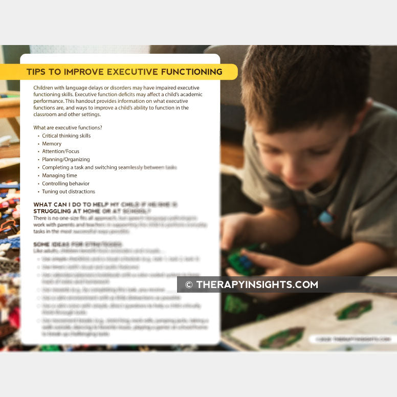 Tips to Improve Executive Functioning