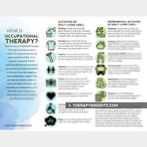 What is Occupational Therapy: OT Scope of Practice