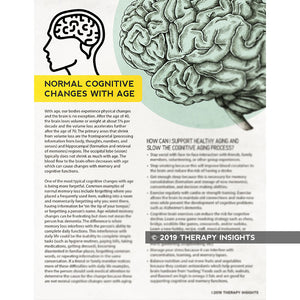Normal Cognitive Changes with Age - speech therapy materials for adults - cognitive-linguistics - Therapy Insights - Therapy Fix