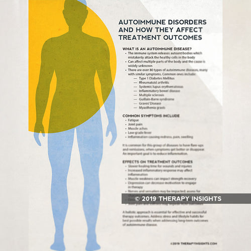 Auto-immune disease and effect on treatment outcomes. Occupational therpay. Physical therpay. Patient handouts. Therapy Insights. Therapy Fix.