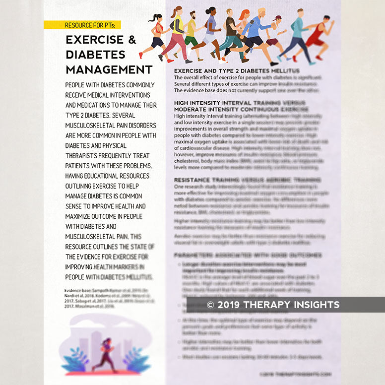 Exercise and Diabetes Management