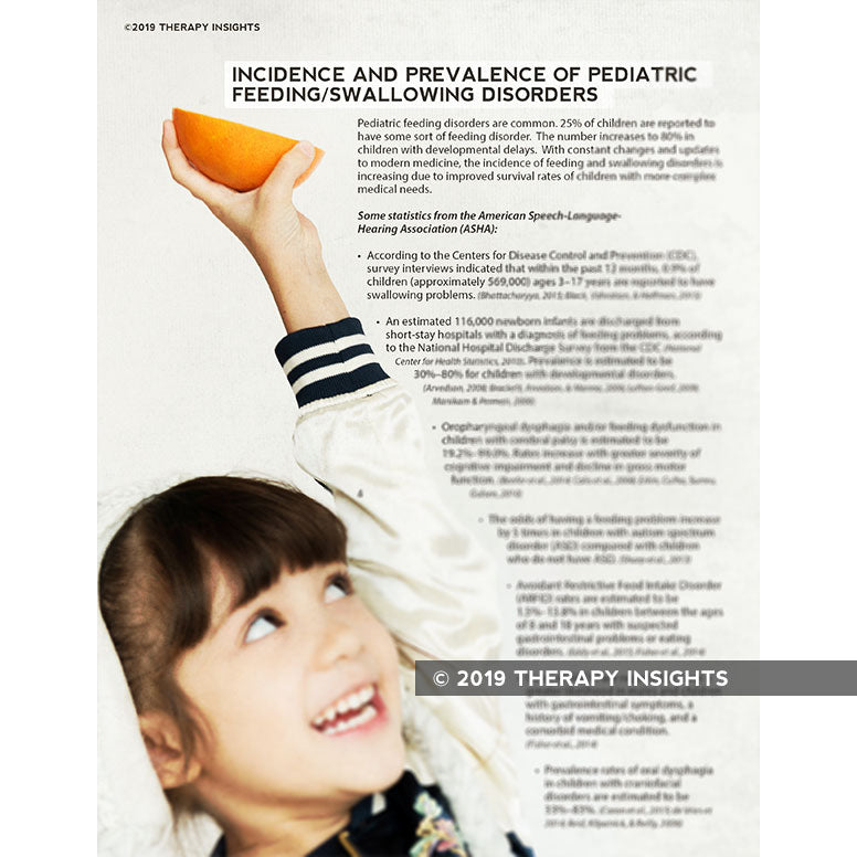 Incidence/Prevalence of Pediatric Feeding Disorders