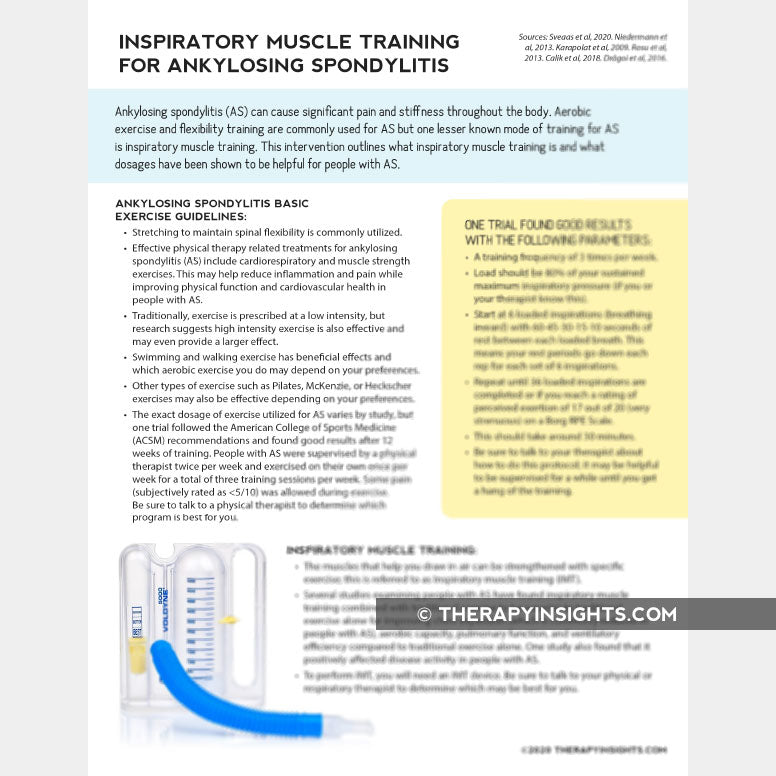 Inspiratory Muscle Training for Ankylosing Spondylitis