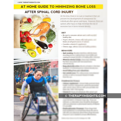 At-Home Guide to Minimizing Bone Loss After Spinal Cord Injury