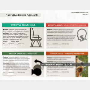 Pharyngeal Exercise Flashcards