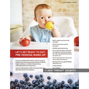 Load image into Gallery viewer, Pre-feeding warmup - pediatric feeding therapy - handout for parents - Therapy Insights - Therapy Fix