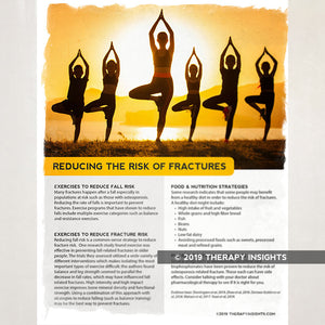 Reducing the risk of fractures. Health literacy handout for physical therapy patients. Therapy Fix. Therapy Insights.