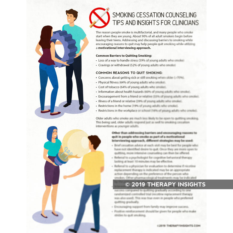 Smoking Cessation Counseling Tips for Clinicians
