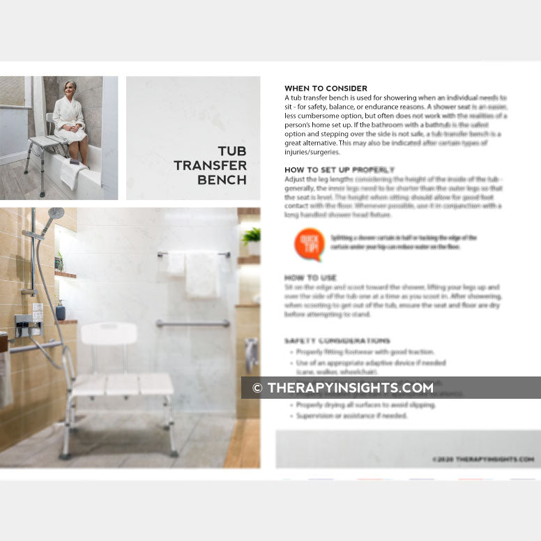 Handout: Tub Transfer Bench