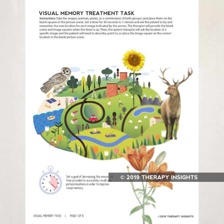 Visual memory task. Therapy Insights. Therapy Fix.