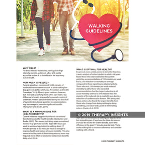 Walking guidelines for long-term health - handouts for physical therapists - health literacy for physical therapy - PT - Therapy Insights - Therapy Fix