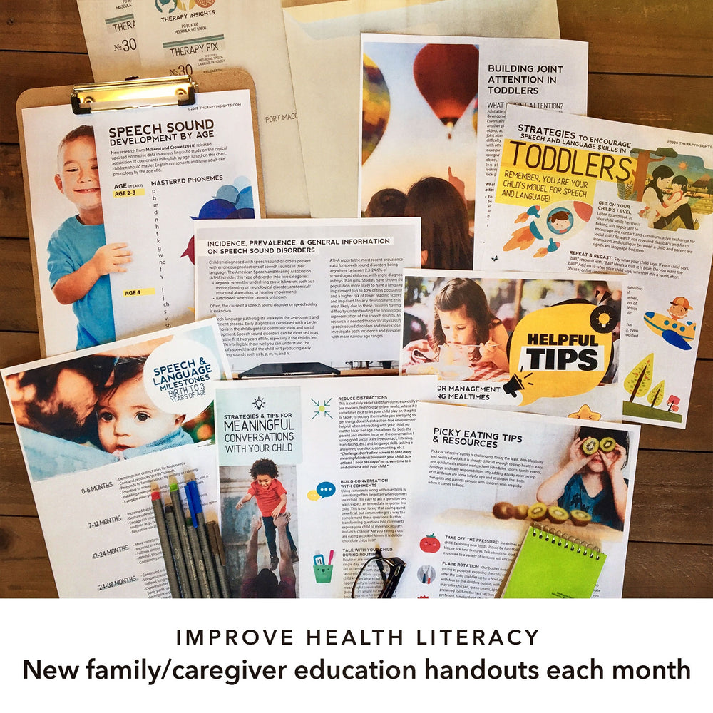 Therapy Fix - SLP Pediatric Edition - Monthly Subscription