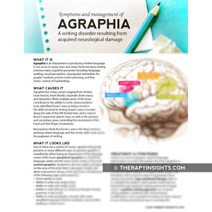 Load image into Gallery viewer, Handout: Agraphia