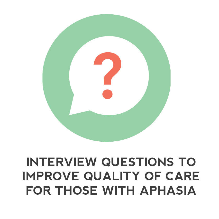 Language Intervention: Interview Questions to Improve Quality of Care for Those With Aphasia - Therapy Fix - SLP Insights