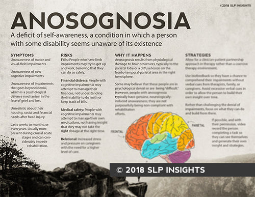 SURPLUS SALE - Handout: Anosognosia