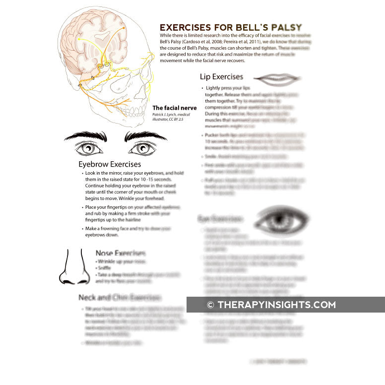 Load image into Gallery viewer, Exercises for Bell's Palsy