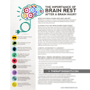 Load image into Gallery viewer, Handout: Brain Injury and Rest