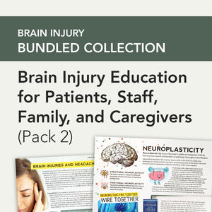 Med SLP Bundle: Brain Injury Education for Patients, Staff, Family, and Caregivers (Pack 2)