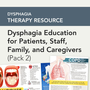 Med SLP Bundle: Dysphagia Education for Patients, Staff, Family, and Caregivers (Pack 2)