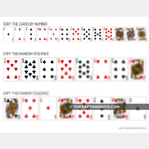 Cognitive-Linguistic Task: Card Sorting with Visuals